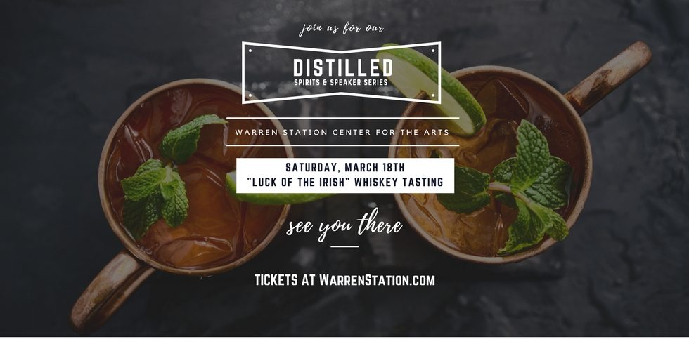 """DISTILLED"" A Speaker And Spirits Series – ""Luck Of The Irish"" Whiskey Tasting"