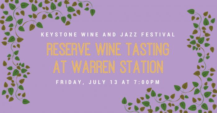 Reserve Wine Tasting At Warren Station