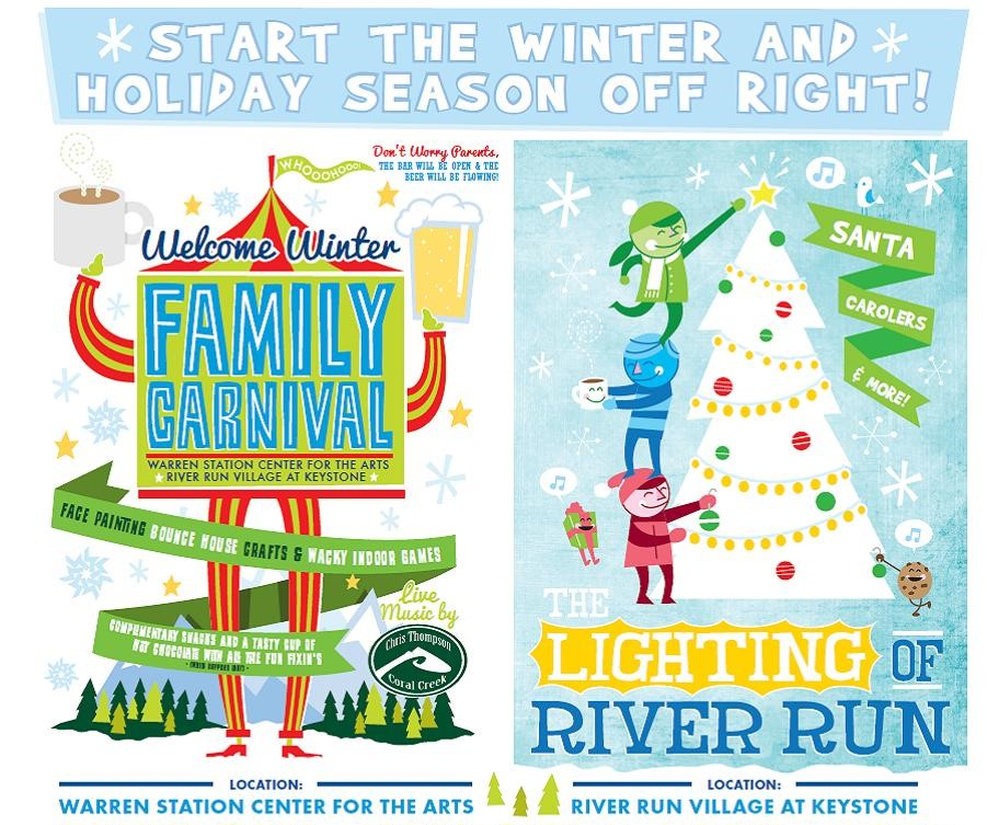 Lighting Of River Run Holiday Celebration