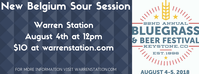 New Belgium Sour Session At Warren Station