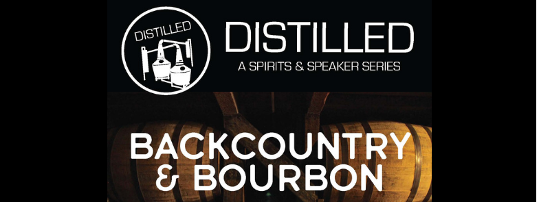 Distilled: A Spirits And Speakers Series, Title Over Bourbon Barrels