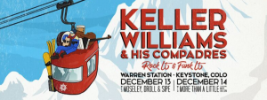 artistic drawing of the Keller Williams poster 2019