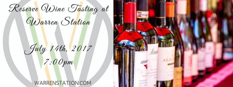 Reserve Wine Tasting At Warren Station